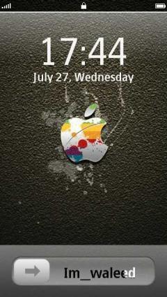 Apple Slide Lock