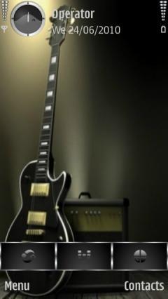 Black Guitar Cute