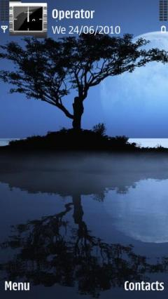 Blue Nature Tree