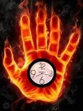 burning clock