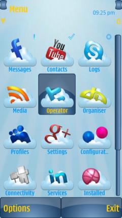 Cloud Media Icons