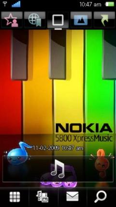 Colorful Nokia Piano