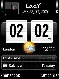 Digital Clock for Nokia E51 Free Download