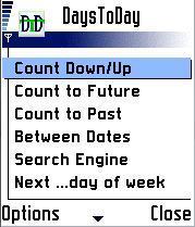 DaysToDay Calendar Counter