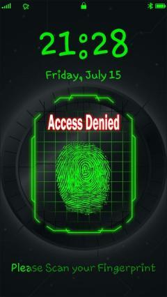 Fingerprint Scan Loc
