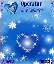 Glittery Blue Heart