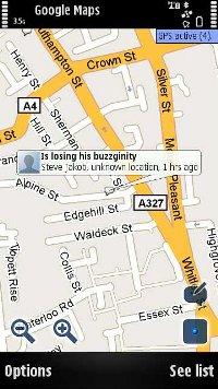 Google maps S60 for Nokia E5-00 (Nokia Mystic) Free Download