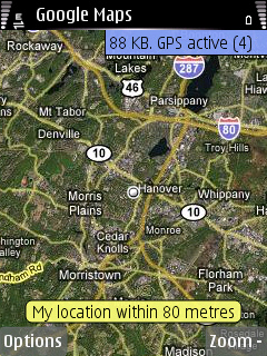 Google maps S60