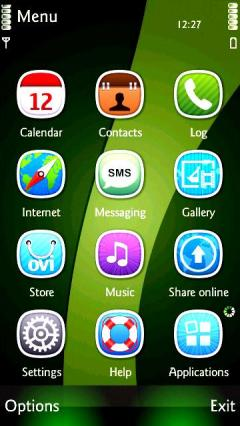 Green Abstract Icons
