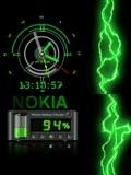 Green Animated Clock