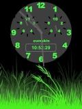 GREEN GRASS CLOCK