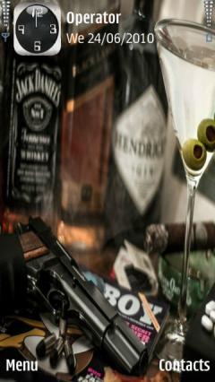 gun and martini