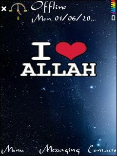 I Love Allah For Nokia E72 Free Download In Themes Wallpapers