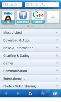 ibibo iBrowser for Symbian