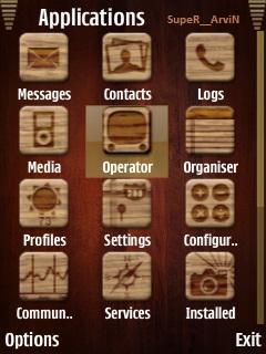 Iphone 5 Wood Menu