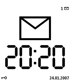 Large clock screensaver
