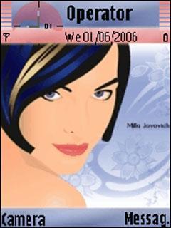 Milla Jovovich Blue