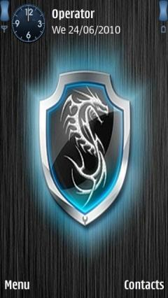 Neon Dragon Shield