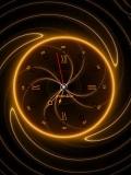 neon sun clock
