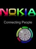 NOKIA animated color clock