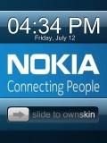 Nokia Clock blue style