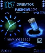 Nokia Clock Blue
