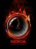 NOKIA FIRE CLOCK