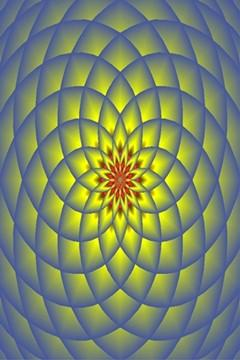 Polar lotus screen saver