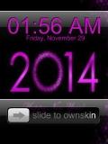 purple clock.....