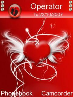Red Abstract Heart