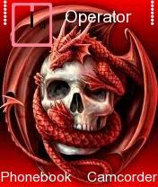 Red Dragon Skull