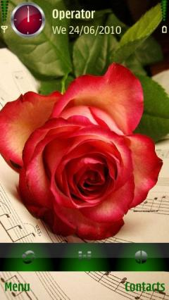 Rose With Music Note