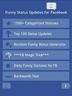 Funny Status for Facebook