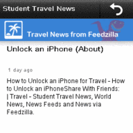 Student Travel News