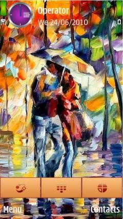 Sweet Couple In Rain