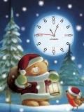 Teddy christmas clock