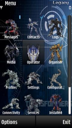 Transformers 3 Menu