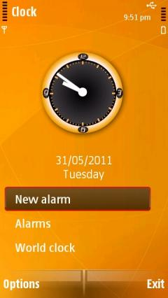 Ultra Orange Clock