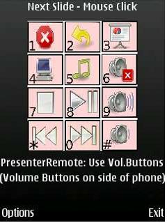 WMouseXP Symbian Bluetooth Presenter Remote